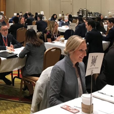 Friday, November 17th, 2017: Our Desautels students live in action! Here, they are participating in the Speed Mock-Interviewing Activity held at the Marriott hotel