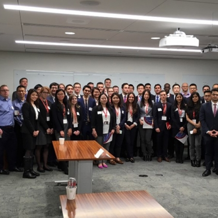 Thursday, November 16th, 2017: Students during the Ontario Teachers' Pension Plan firm session, as part of the Asset Management Group.