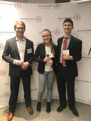 Desautels BCom students Félix Dumouchel, Gabrielle Schilling and Samuel Dubuc win 1st place in the Affaire de Cas case competition