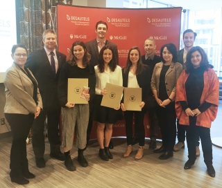 Desautels BCom students Andrew Biddell, Hannah Boshari, Kasey Boyle, Ambre Chaillet, Meggie Dargis, Erin Janna, Leah Simon, and Sandrine Veillette were selected as Academic All-Canadians for their superior achievement in both sports and academics