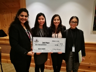 Congratulations to Desautels MBA students Sandra Chang Urbina, Yen Nguyen, Shubhangi Shahi, and Fang Yang who secured second place at the final round of the Business for a Better World Case Competition.
