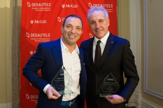 Members of the Desautels community came together in February to celebrate this year's recipients of the Desautels Management Achievement Awards (DMAA), Mitch Garber (BA'86), CEO, Caesars Acquisition Corporation, and Norman Jaskolka (BCom'76, DPA'78), President - Aldo Group International, The Aldo Group Inc.