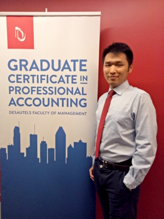 Kaihua He, student of the Graduate Certificate in the Professional Accounting (GCPA) program, has been selected among the graduating class as this year's recipient of the C. Douglas Mellor Prize for academic excellence.