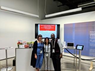From left to right: Vanessa Tremblay (Share the Warmth), Jaime Lee (reMIXed), Nii Addy (McGill University). Photo: Jean-Michael Seminaro