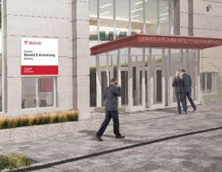 Entrance of the new Donald E. Armstrong Building