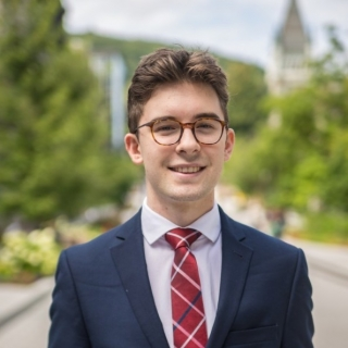 Sean McNally, valedictorian for the Desautels Faculty of Management