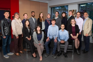 PhD incoming class of 2018: Top row – standing from left to right; Peng Wang (Accounting); Dean Isabelle Bajeux; Ryan Amsden (IS); Arani Roy (Marketing); Aysun Mutlu (OM); Zahra Jalali (OM); Andrew Foley (Strategy); Katy Moloney (Strategy); Dominique Welt (IS) Mohammad Ouhadi (Finance); Samer Faraj (PhD Program Director). Seated from left to right: Nan Ma (Finance); Qing Xu (Finance); Recep Yusuf Bekci (OM): Pouya Behmaram (Finance); Alyson Gounden Rock (OB). Absent: Maryam BourghaniFarahani (IS)