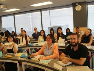 First day of class for ISP students, Summer 2016