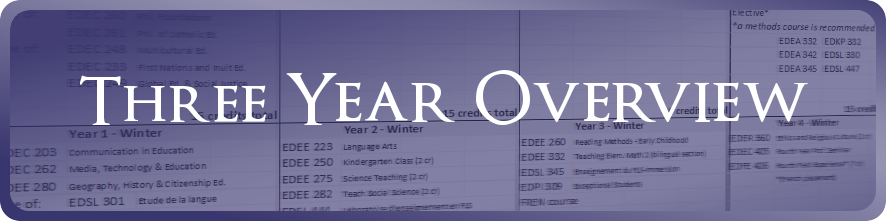 B Ed Music Three Year Overview registration plan