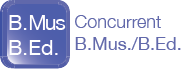 Concurrent Bachelor of Music and Bachelor of Education