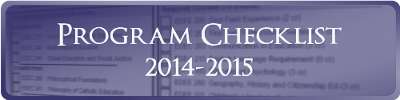 B Ed B Mus Program Checklist 2014-2015