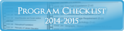 Secondary Science and Technology Program Checklist 2014-2015
