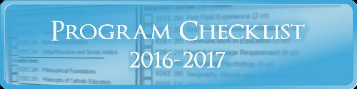 Secondary English Program Checklist 2016-2017