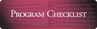 link to program checklist