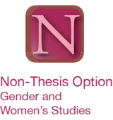 link to Non-thesis option, Gender and  Women's studies