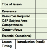 picture of learning plan