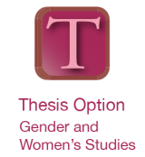 thesis option, gender and women's studies