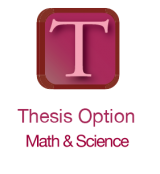 Thesis option in Math and Science