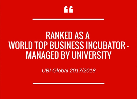 World Top Business Incubator - Managed by a University