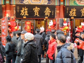 Picture of crowd out Shopping, Year of the Rabbit, Tianjin, China 2011