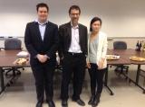 2014-2015 First Prize Winners. L to R: Mr. Alexander MacDonald, Prof. Andrew Kirk and Ms. Victoria Hippoman. Absent: Mr. Jake Jarnik.