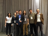 Prof. Shane McIntosh (fifth from the left) and co-authors receive the ACM SIGSOFT Distinguished Paper Award.
