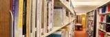 image: library shelves