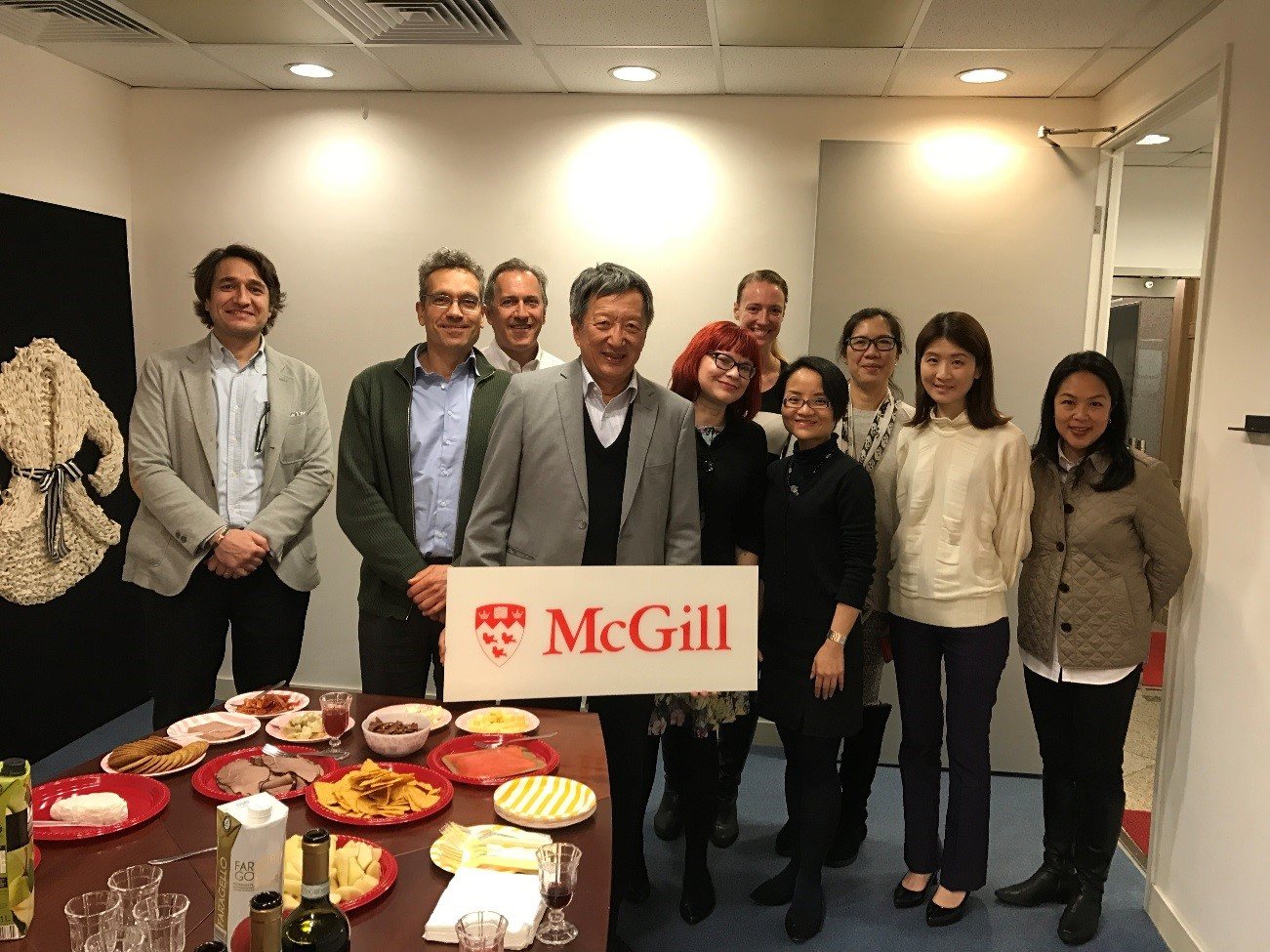 s faculty of education and education university of hong wyng foundation s dr anthony ng and professors dr robert savage and dr tara flanagan along alumni at a wine and cheese in hong kong