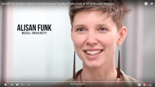 PhD Student Allison Funk Represents McGill at 2019 Monash Seminar