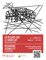 Poster for Regarding Disability event