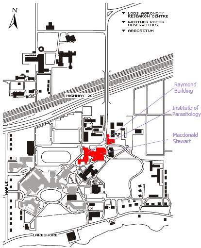 Macdonald Radiation Locations Map