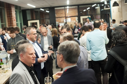 Photo of guests networking during the 2019 Celebration of Innovation and Entrepreneurship.