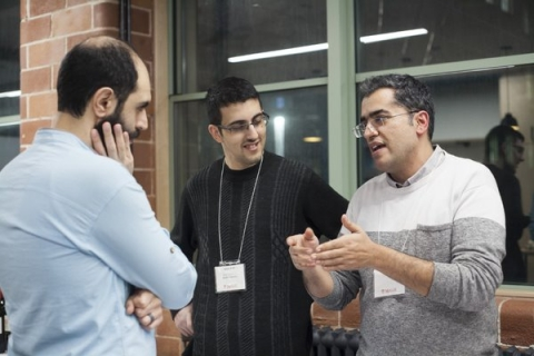 Image of students explaining their project during the 2019 Celebration of Innovation and Entrepreneurship.