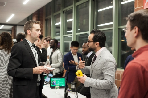 Image of students presenting their project during the 2019 Celebration of Innovation and Entrepreneurship