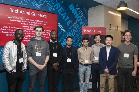 Group image of 8 TechAccel grantees.