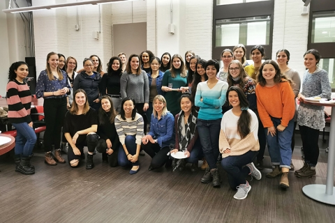 a group photo of women engineering students