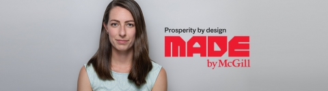 Made By mcgill campaign banner featuring engineering student