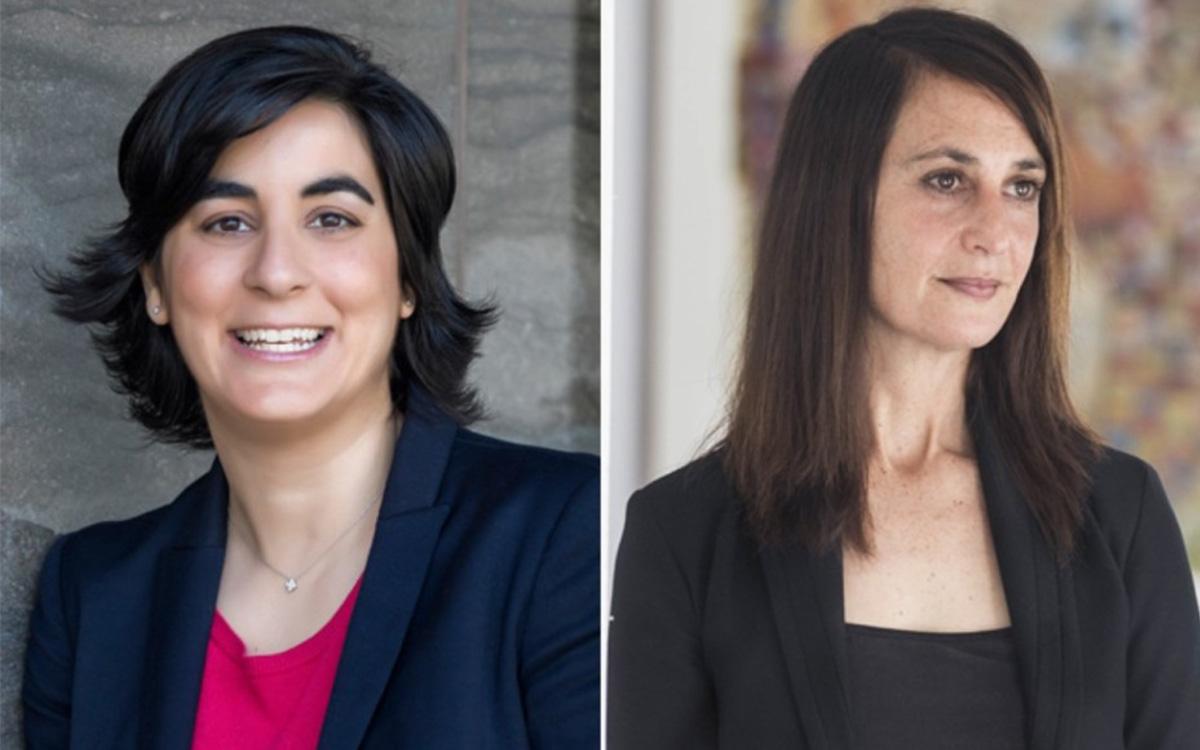 Collage of portraits of Professors Myriam Denov and Nathalie Tufenkji