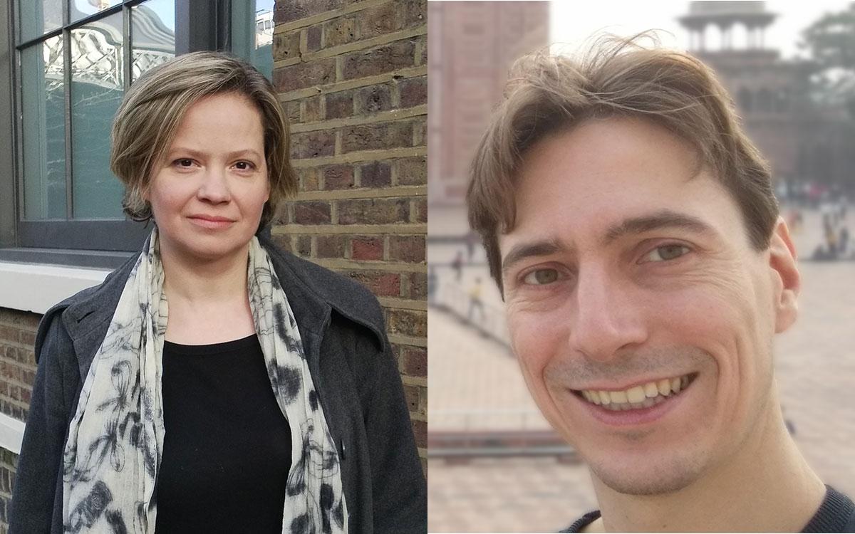 Portraits of Professors Katrin Tinn and Christophe Dubach