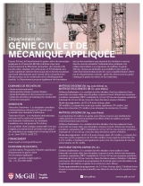 Civil Engineering Program Flyer French