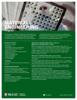 Materials Engineering Program Flyer English