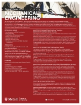 Mechanical Engineering Program Flyer English