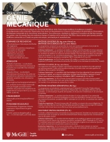 Mechanical Engineering Program Flyer French