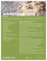 Mining Engineering Program Flyer English