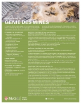 Mining Engineering Program Flyer French