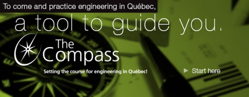 The Compass: Setting the course for engineering in Quebec! A tool to guide you. Start here.
