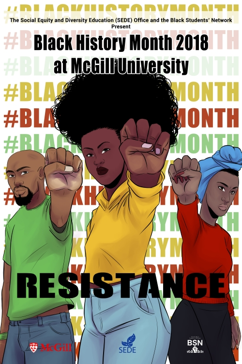 Poster for Black History Month 2018 - Resistance