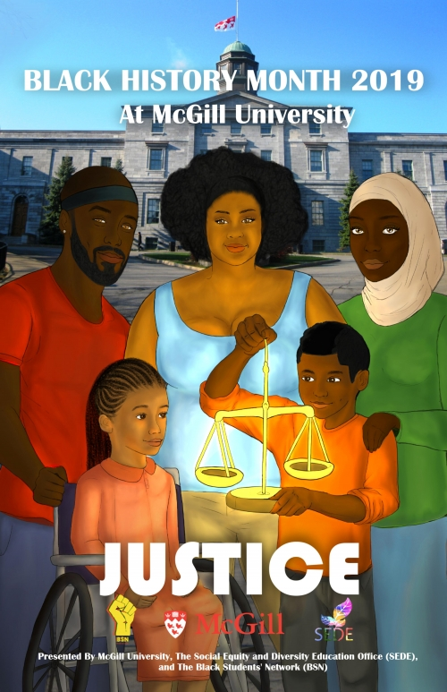 Poster for Black History Month 2019 - Justice