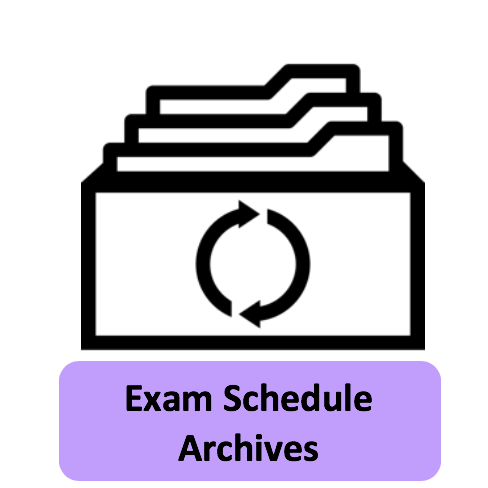 Exam Schedule Archives