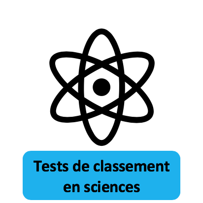 Tests de classement en sciences